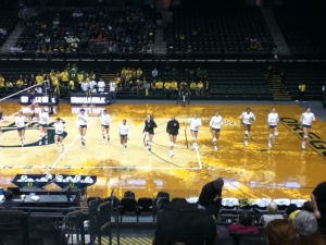 Volleyball game in Eugene, Oregon